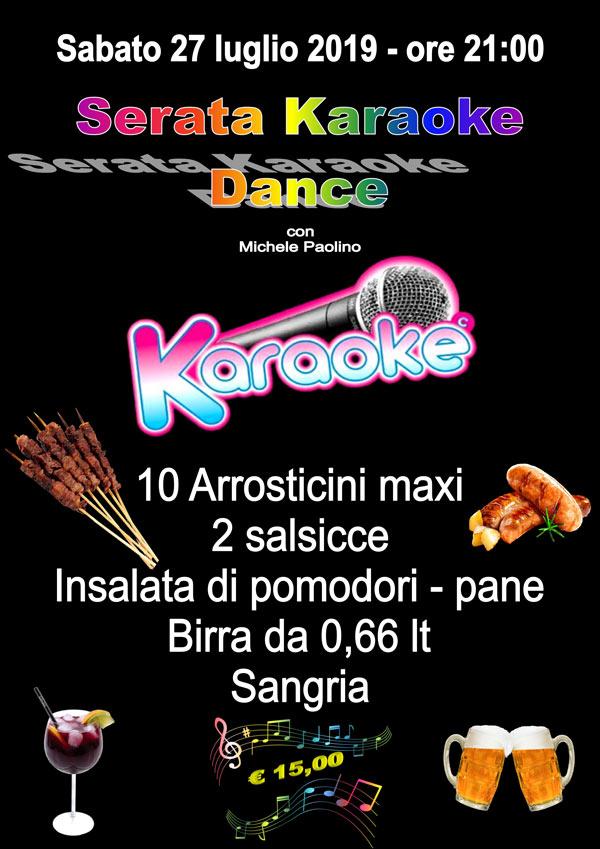 Serata Cena Karaoke Dance – 27 Luglio